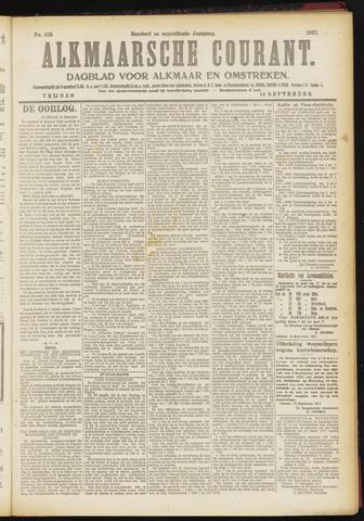 Alkmaarsche Courant 1917-09-14