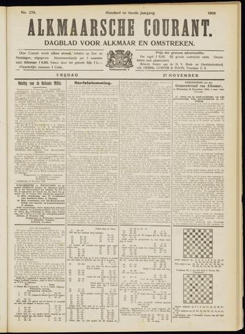 Alkmaarsche Courant 1908-11-27
