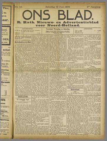 Ons Blad : katholiek nieuwsblad voor N-H 1908-06-13