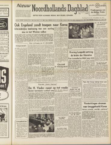 Nieuw Noordhollandsch Dagblad : voor Alkmaar en omgeving 1950-07-27