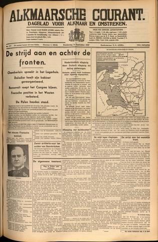 Alkmaarsche Courant 1939-09-14