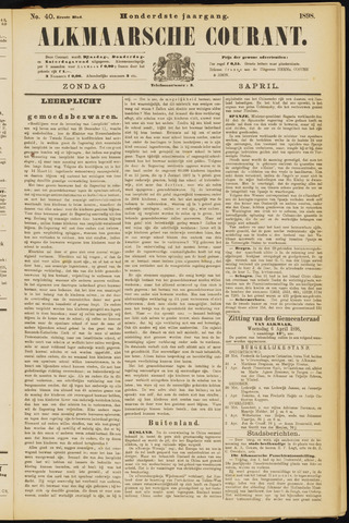 Alkmaarsche Courant 1898-04-03