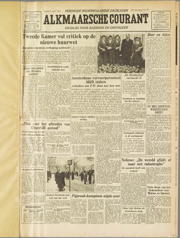 Alkmaarsche Courant 1955-04-01