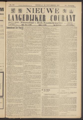 Nieuwe Langedijker Courant 1932-11-29