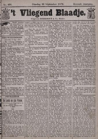 Vliegend blaadje : nieuws- en advertentiebode voor Den Helder 1879-09-30
