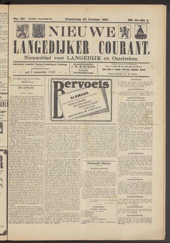 Nieuwe Langedijker Courant 1924-10-30