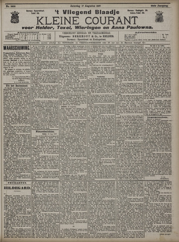 Vliegend blaadje : nieuws- en advertentiebode voor Den Helder 1907-08-17