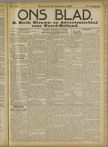 Ons Blad : katholiek nieuwsblad voor N-H 1909-12-29