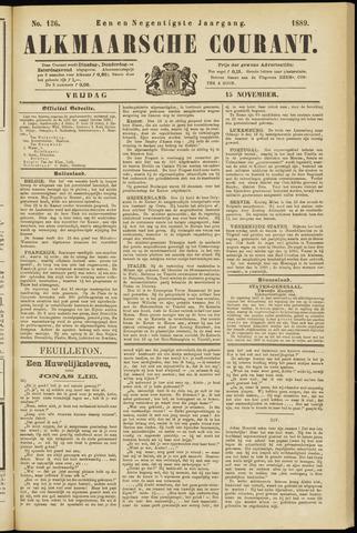 Alkmaarsche Courant 1889-11-15