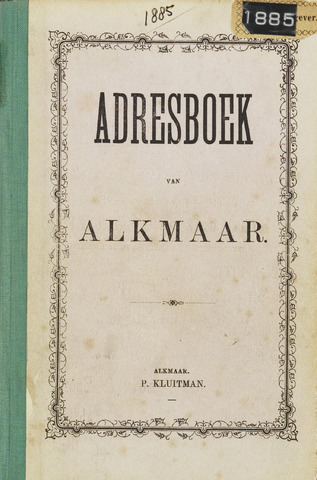 Adresboek van Alkmaar 1885-01-01