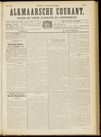 Alkmaarsche Courant 1911-09-12