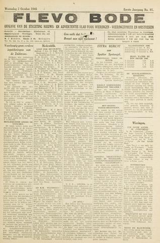 Flevo-bode: nieuwsblad voor Wieringen-Wieringermeer 1946-10-02