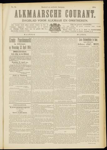 Alkmaarsche Courant 1914-04-20