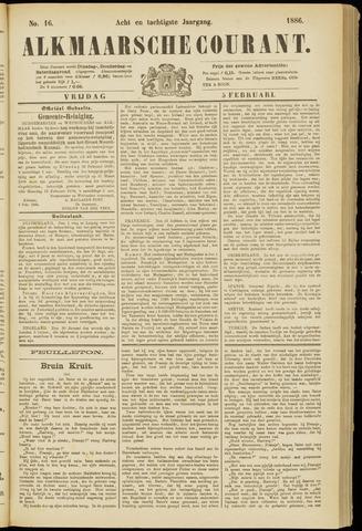 Alkmaarsche Courant 1886-02-05