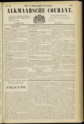 Alkmaarsche Courant 1892-07-29