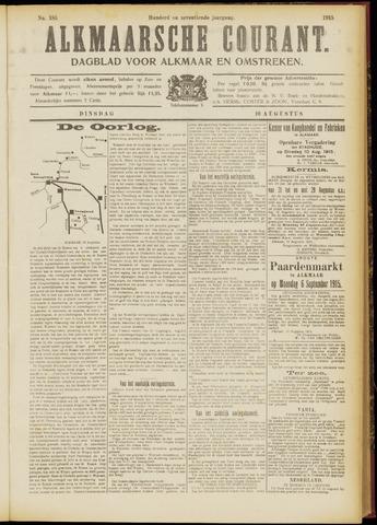 Alkmaarsche Courant 1915-08-10