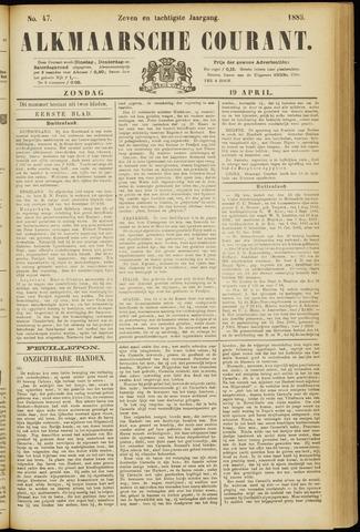 Alkmaarsche Courant 1885-04-19