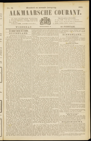Alkmaarsche Courant 1905-02-22