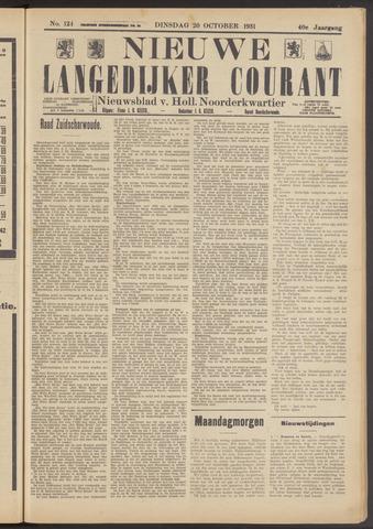 Nieuwe Langedijker Courant 1931-10-20