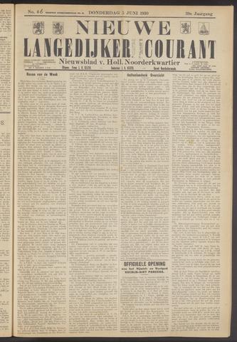 Nieuwe Langedijker Courant 1930-06-05