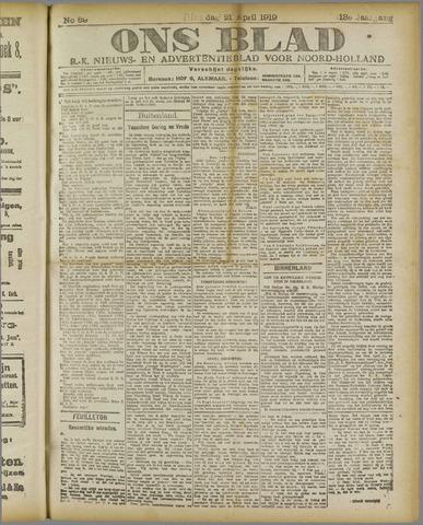 Ons Blad : katholiek nieuwsblad voor N-H 1919-04-21
