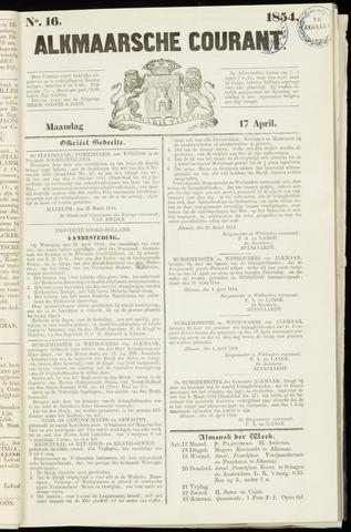 Alkmaarsche Courant 1854-04-17