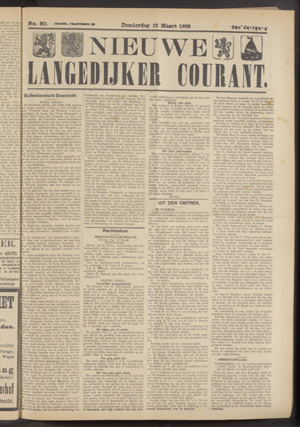 Nieuwe Langedijker Courant 1925-03-12