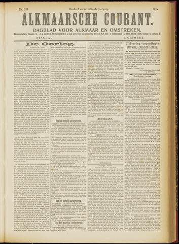 Alkmaarsche Courant 1915-10-05