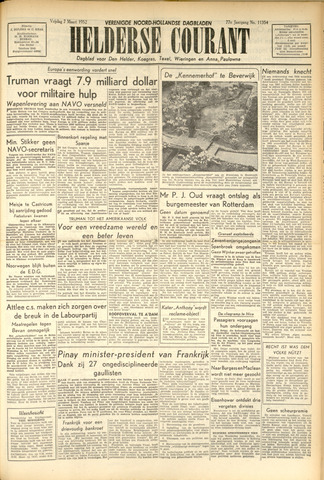 Heldersche Courant 1952-03-07