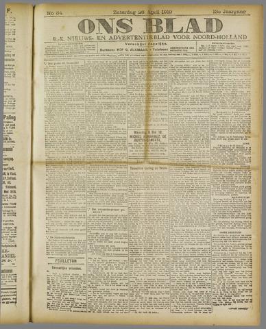 Ons Blad : katholiek nieuwsblad voor N-H 1919-04-26