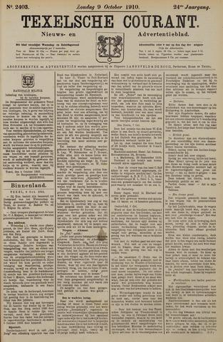 Texelsche Courant 1910-10-09