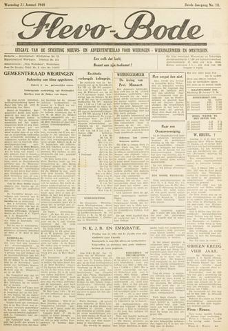 Flevo-bode: nieuwsblad voor Wieringen-Wieringermeer 1948-01-21