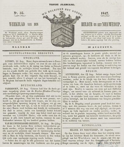 Weekblad van Den Helder en het Nieuwediep 1847-08-30