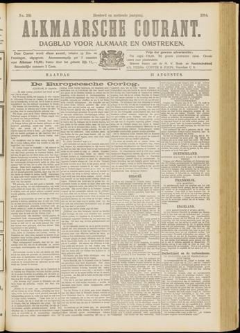 Alkmaarsche Courant 1914-08-31