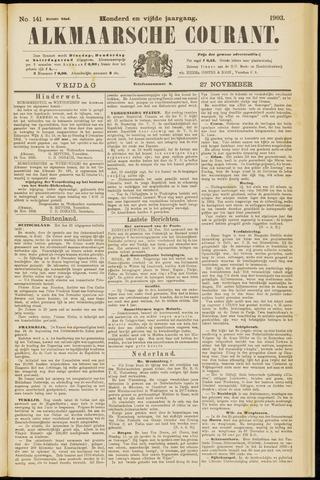 Alkmaarsche Courant 1903-11-27