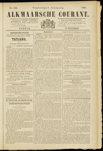 Alkmaarsche Courant 1888-11-23