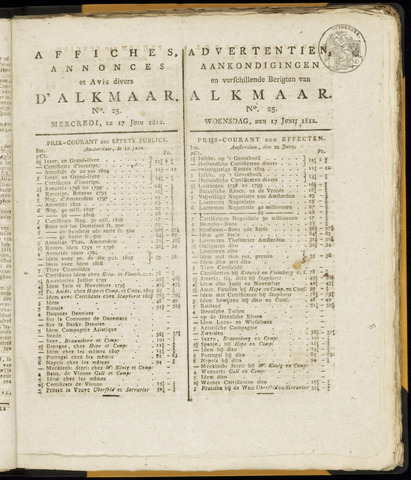 Alkmaarsche Courant 1812-06-17