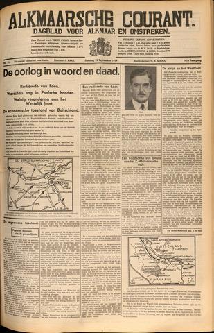 Alkmaarsche Courant 1939-09-12
