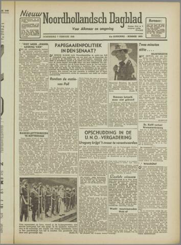 Nieuw Noordhollandsch Dagblad : voor Alkmaar en omgeving 1946-02-07