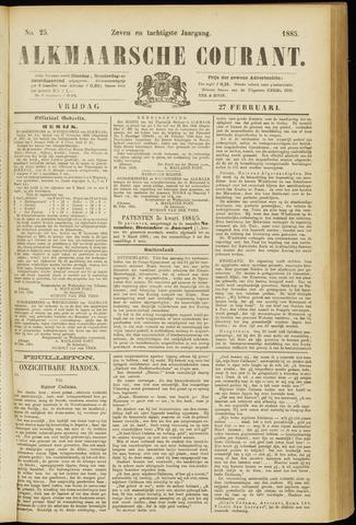 Alkmaarsche Courant 1885-02-27