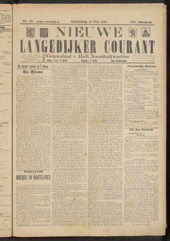 Nieuwe Langedijker Courant 1928-07-12