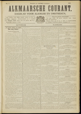 Alkmaarsche Courant 1912-01-13