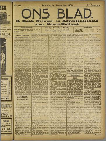 Ons Blad : katholiek nieuwsblad voor N-H 1908-11-14