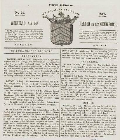 Weekblad van Den Helder en het Nieuwediep 1847-07-05