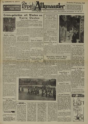 De Vrije Alkmaarder 1949-09-15