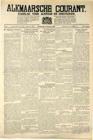 Alkmaarsche Courant 1937-02-04