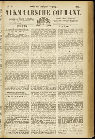 Alkmaarsche Courant 1885-03-01