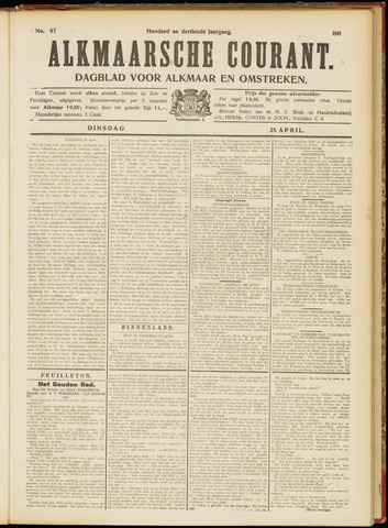 Alkmaarsche Courant 1911-04-25