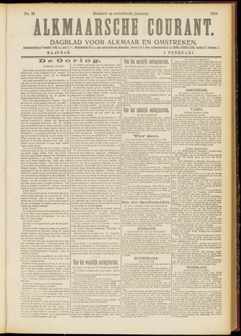 Alkmaarsche Courant 1915-02-01