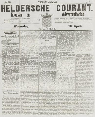 Heldersche Courant 1875-04-28